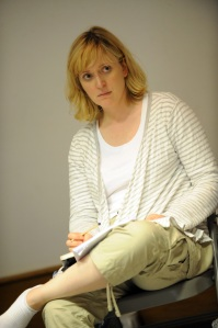 Claire Price in rehearsal for The Pride