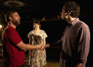 Stuart Laing (Allan), Sukie Smith (Lorna) and Robert Wilfort (Jonathan) in Hundreds and Thousands
