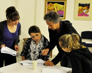 WE ARE THREE SISTERS: REHEARSAL SHOT