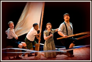 'Swallows' – Richard Holt, Katie Moore, Akiya Henry and Stewart Wright (photo Simon Annand)