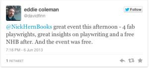 Eddie Coleman tweet