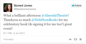 Sioned Jones tweet