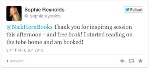 Sophie Reynolds tweet