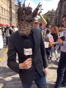 Promoting Foxfinder on the Royal Mile