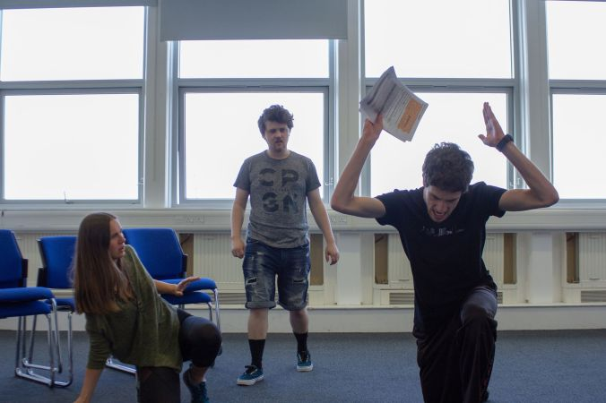 Antigone Rehearsal Photo 1